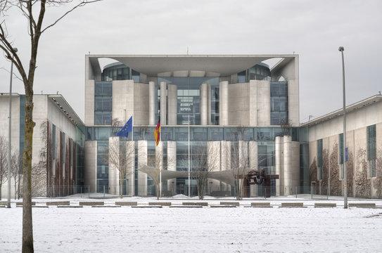 German Chancellery in Berlin at winter, Germany, Europe,