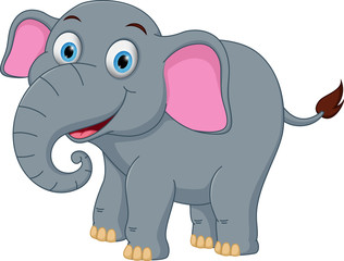 Happy elephant cartoon