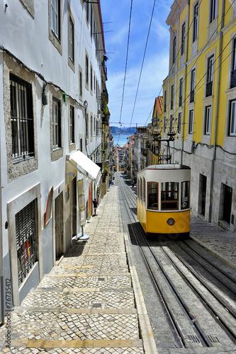 Fototapete funiculaire Lisbonne