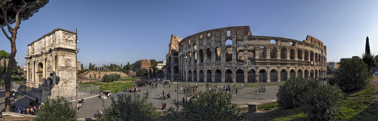 Wall Mural - Rom Colosseum und  Konstantinsbogen