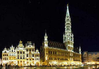Panorama of the Grand Place in Brussels