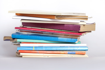 Pile of vintage paper books