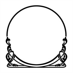 round decorative frame in the art Nouveau style