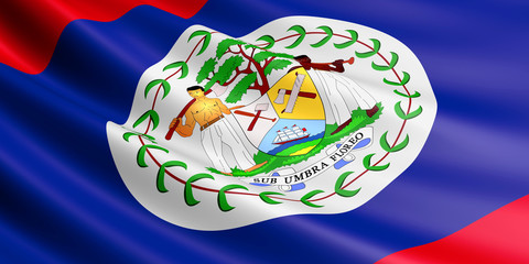 Flag of Belize.