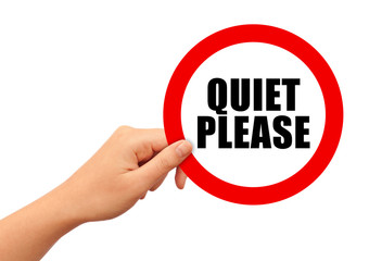 Quiet please sign Wall mural