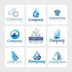Vector logos - Nautical