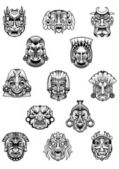 African ritual ceremony tribal masks