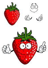 Cartoon fresh red strawberry