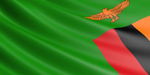 Zambia flag.
