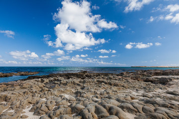 The stone island in the Mediterranean Sea