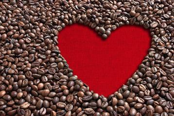 Valentine coffee beans