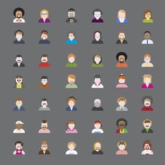 Diversity Portrait Design Characters Avatar Vector Concept