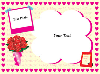 card valentine with photo