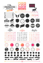 200 elements of Hipster elements