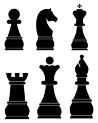 Chess icons set