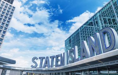 Staten Island ferry entrance in Lower Manhattan - NYC