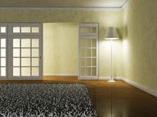 floor lamp in the room