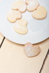 heart shaped shortbread valentine cookies