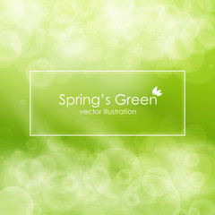 Green abstract background , vector illustration