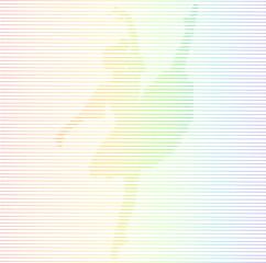 ballerina linea arcobaleno