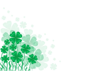 background St. Patrick day a with symbol of holiday-  clover