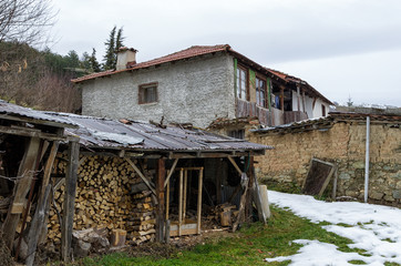 Old house in Antartiko village, Florina, Greece