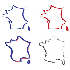 carte de france stylisee