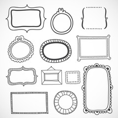 Cute hand drawn frames in vector