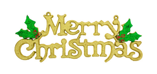 Merry Christmas decoration on a white background
