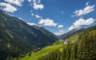 View of the Paznaun Valley in Tirol (Austria)