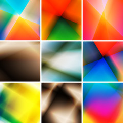 Set of abstract light backgrounds.