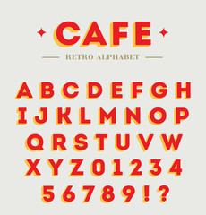Simple branding alphabet