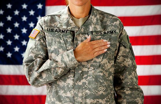 Soldier: Taking Pledge of Allegiance