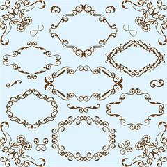 Baroque style set