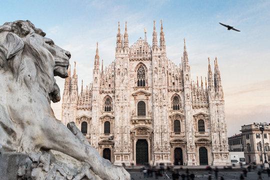 Milan Cathedral Duomo. Italy. European gothic style.