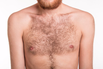 Hairy man chest