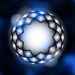 Moder abstract background with geometrical star, lights, vector