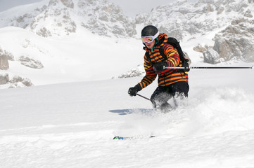 Skifahrer/Teenager