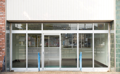 Empty shops waiting for someone to buy