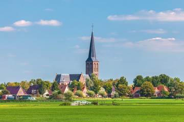 Small Dutch village in the province of Friesland