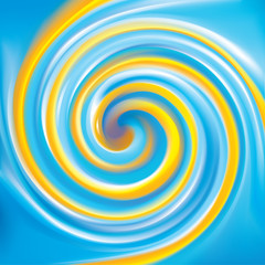 Poster Psychedelique Vector background. Mix of national Ukrainian colors: yellow and