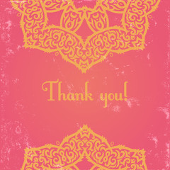 pink indian card