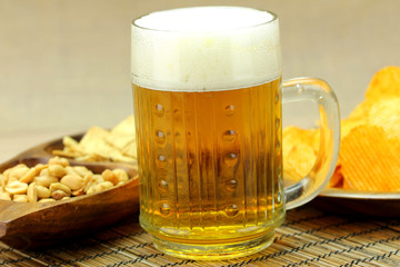 Beer with foam snack