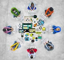 Diversity Casual People Responsive Design Computer Concept
