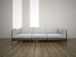 Sofa in the room 3d rendering