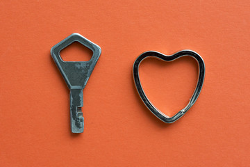 key with heart