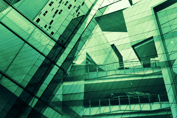 Fototapete - Glass of modern tower for business background