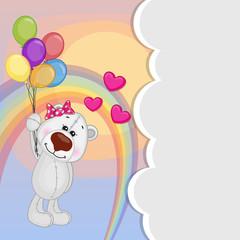 Polar Bear with balloons
