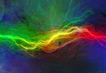 psychedelic lightning
