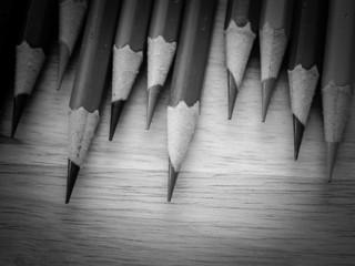 black and white colour pencils